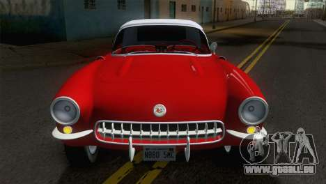 Chevrolet Corvette C1 1957 für GTA San Andreas rechten Ansicht