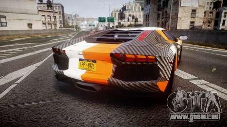 Lamborghini Aventador 2012 [EPM] Hankook Orange pour GTA 4 Vue arrière de la gauche