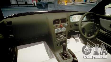 Nissan Skyline R33 GT-R V.spec 1995 pour GTA 4 est une vue de l'intérieur