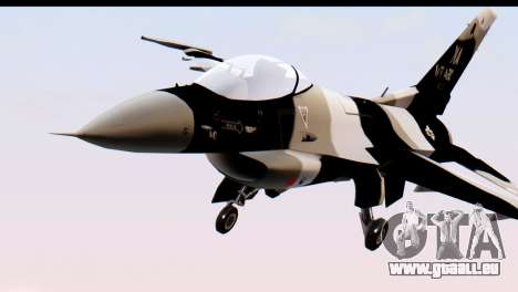F-16 Aggressor Squadron Alaska Black Camo für GTA San Andreas