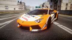 Lamborghini Aventador 2012 [EPM] Hankook Orange pour GTA 4