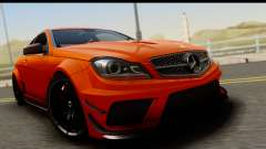 Mercedes-Benz C63 AMG 2012 Black Series für GTA San Andreas