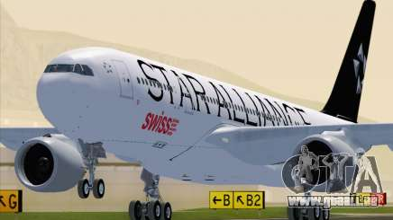 Airbus A330-200 SWISS (Star Alliance Livery) pour GTA San Andreas