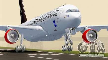 Airbus A330-300 SAS Star Alliance Livery pour GTA San Andreas