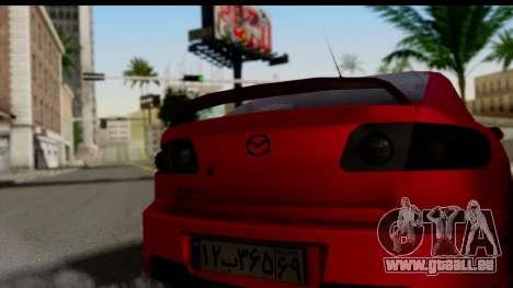 Mazda 3 2008 pour GTA San Andreas sur la vue arrière gauche