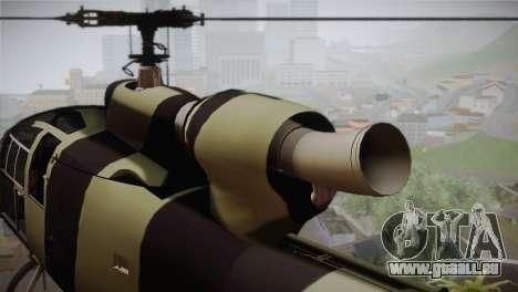 SA 342 Serbian Police Gazelle CAMO für GTA San Andreas rechten Ansicht