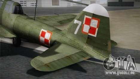 ИЛ-10 de la Marine polonaise pour GTA San Andreas sur la vue arrière gauche