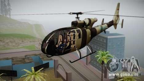 SA 342 Serbian Police Gazelle CAMO für GTA San Andreas