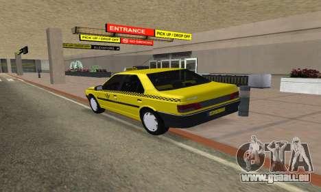 Peugeot 405 Roa Taxi pour GTA San Andreas laissé vue