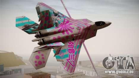 F-22 Raptor Hatsune Miku pour GTA San Andreas laissé vue