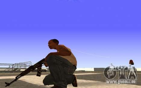 AK-47 Desert rebel CS:GO pour GTA San Andreas troisième écran