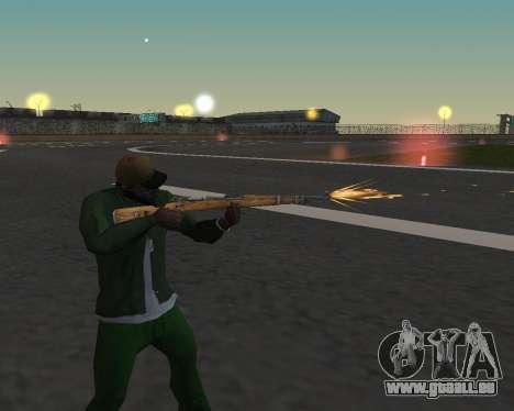 De beaux clichés à partir d'armes pour GTA San Andreas