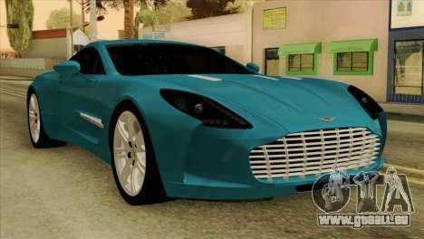 Aston Martin One 77 2010 pour GTA San Andreas