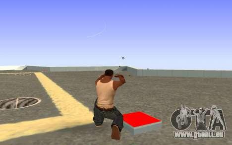 Glock-18 Wasser CS:GO für GTA San Andreas dritten Screenshot
