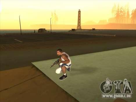 Russe pistolets-mitrailleurs pour GTA San Andreas troisième écran