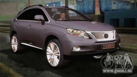 Lexus RX450H 2012 für GTA San Andreas
