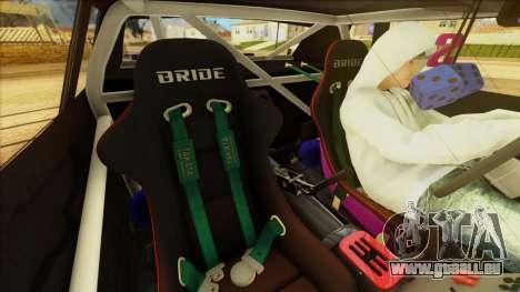 Elegy Undercover pour GTA San Andreas vue de côté