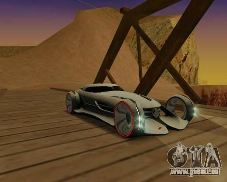 Mercedes-Benz Silver Arrows pour GTA San Andreas sur la vue arrière gauche