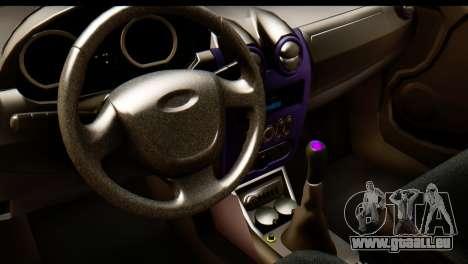 Dacia Logan pour GTA San Andreas vue de droite