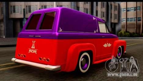 EFLC TLaD Vapid Slamvan SA Mobile pour GTA San Andreas laissé vue