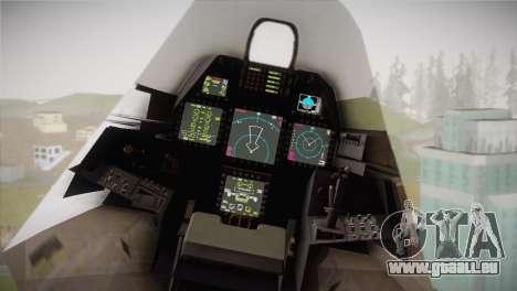 F-22 Raptor Hatsune Miku pour GTA San Andreas vue de droite
