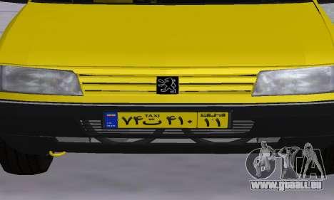 Peugeot 405 Roa Taxi für GTA San Andreas Innen