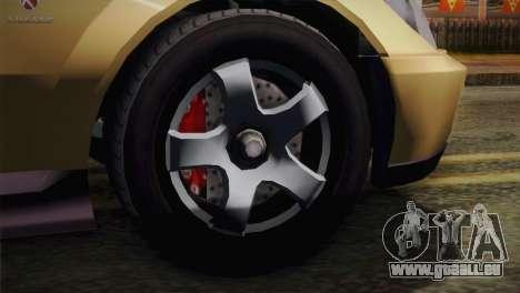 GTA 5 Karin Sultan pour GTA San Andreas sur la vue arrière gauche