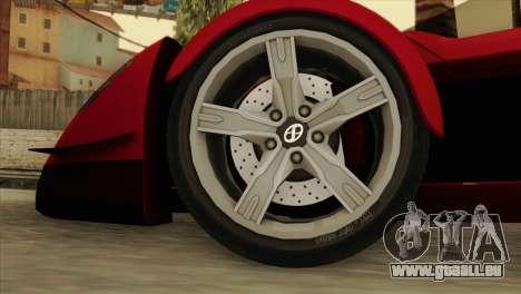 Tramontana XTR pour GTA San Andreas sur la vue arrière gauche