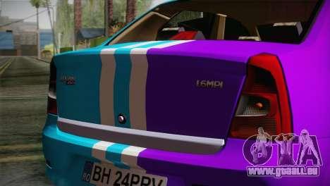 Dacia Logan Purple-Blue für GTA San Andreas rechten Ansicht