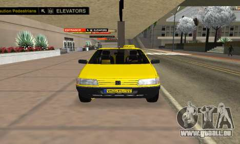 Peugeot 405 Roa Taxi pour GTA San Andreas vue de droite
