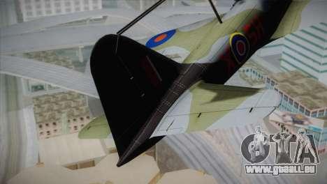 ИЛ-10 Russian Air Force pour GTA San Andreas sur la vue arrière gauche
