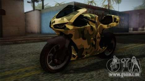GTA 5 Bati Green für GTA San Andreas Rückansicht