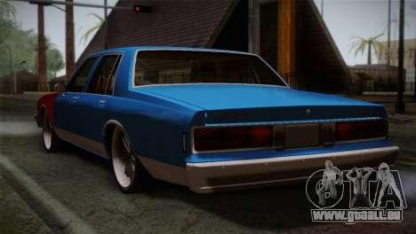 Chevy Caprice Hustler & Flow pour GTA San Andreas laissé vue