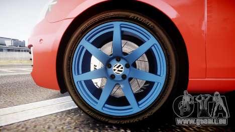 Volkswagen Golf Mk6 GTI rims3 pour GTA 4 Vue arrière