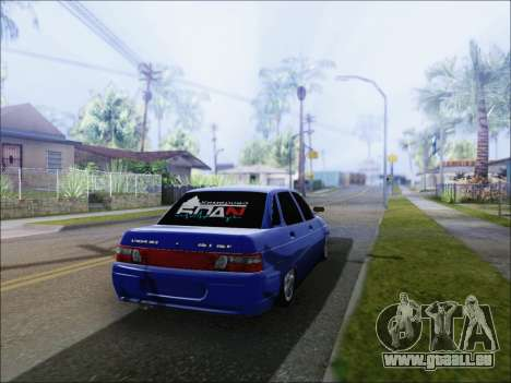 VAZ 2110 БПАN Kemerovo für GTA San Andreas zurück linke Ansicht