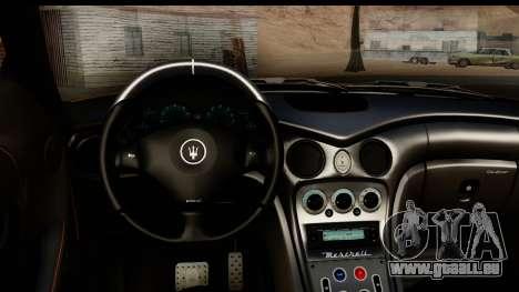 Maserati Gransport 2006 pour GTA San Andreas vue intérieure