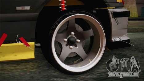 BMW E36 Drift für GTA San Andreas zurück linke Ansicht