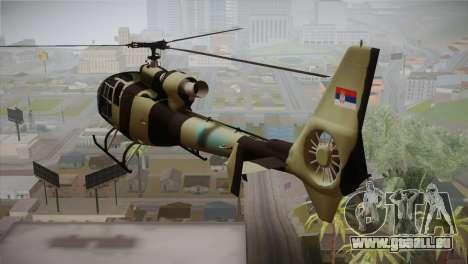 SA 342 Serbian Police Gazelle CAMO für GTA San Andreas linke Ansicht