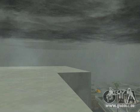 De nouveaux nuages et Colormod pour GTA San Andreas troisième écran