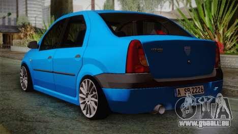 Dacia Logan 2006 pour GTA San Andreas laissé vue