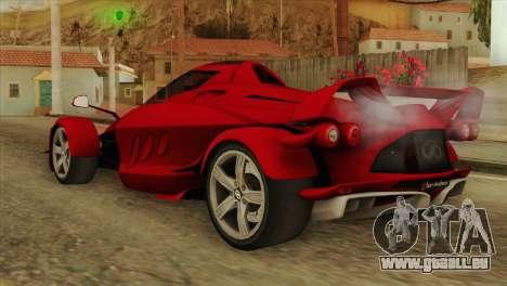 Tramontana XTR pour GTA San Andreas laissé vue