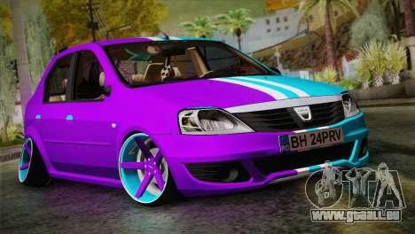 Dacia Logan Purple-Blue für GTA San Andreas