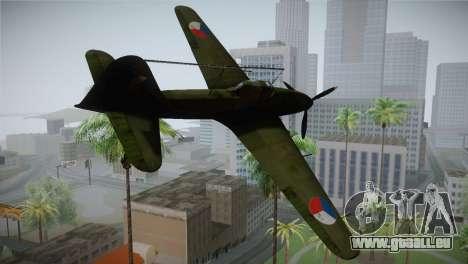 ИЛ-10 tchèque de l'Air Force pour GTA San Andreas laissé vue
