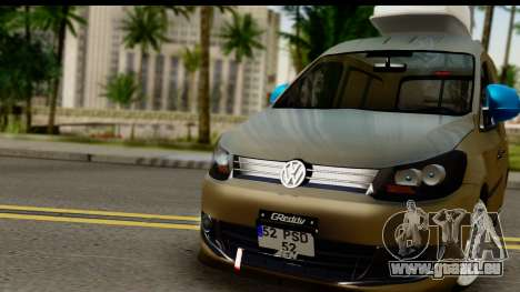 Volkswagen Caddy für GTA San Andreas zurück linke Ansicht