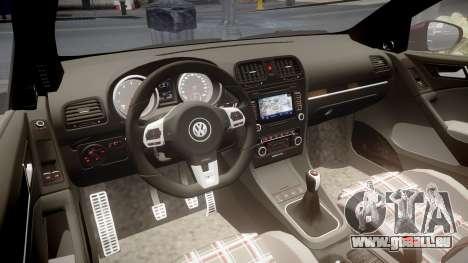 Volkswagen Golf Mk6 GTI rims3 pour GTA 4 est une vue de l'intérieur