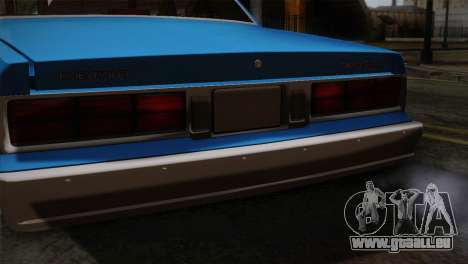 Chevy Caprice Hustler & Flow pour GTA San Andreas vue arrière