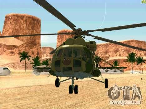 Mi-8 pour GTA San Andreas laissé vue