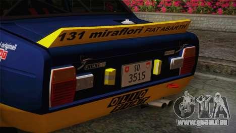 Fiat Abarth Sport Edition für GTA San Andreas rechten Ansicht