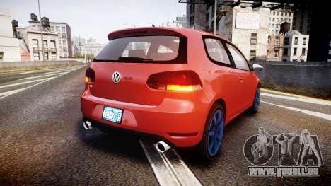 Volkswagen Golf Mk6 GTI rims3 pour GTA 4 Vue arrière de la gauche