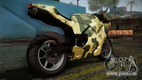 GTA 5 Bati Green für GTA San Andreas linke Ansicht